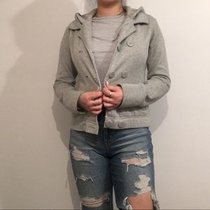 Bluenotes Double-Breasted Jacket in Heather Grey